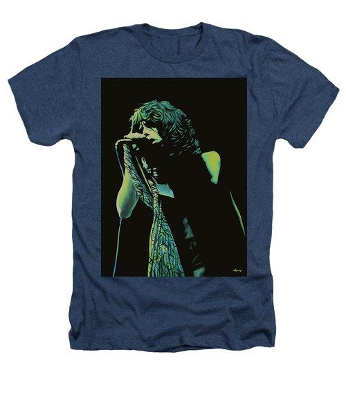 Steven Tyler 2 Heathers T-Shirt by Paul Meijering