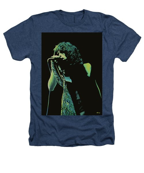 Steven Tyler 2 Heathers T-Shirt by Paul Meijering