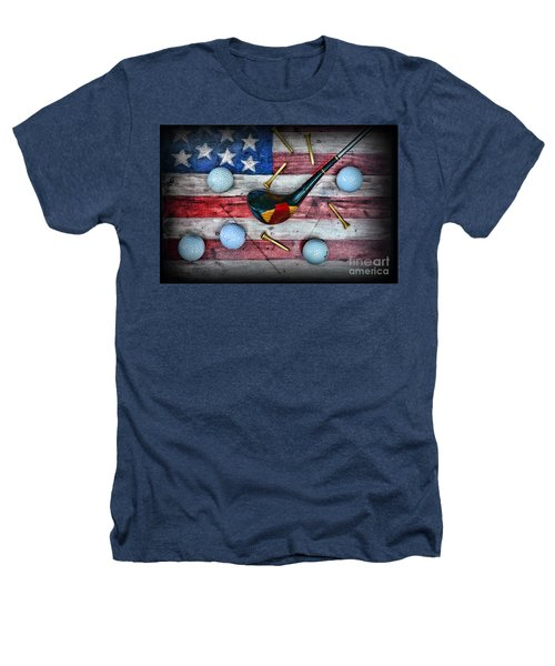 The All American Golfer Heathers T-Shirt by Paul Ward
