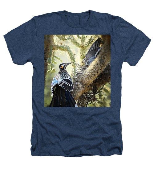 The Dove Vs. The Roadrunner Heathers T-Shirt by Saija  Lehtonen