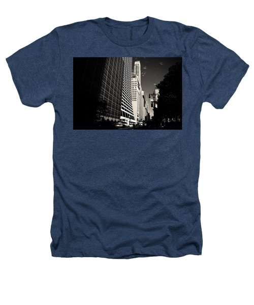 The Grace Building And The Chrysler Building - New York City Heathers T-Shirt by Vivienne Gucwa