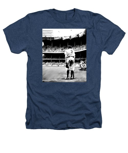 The Greatest Of All  Babe Ruth Heathers T-Shirt by Iconic Images Art Gallery David Pucciarelli