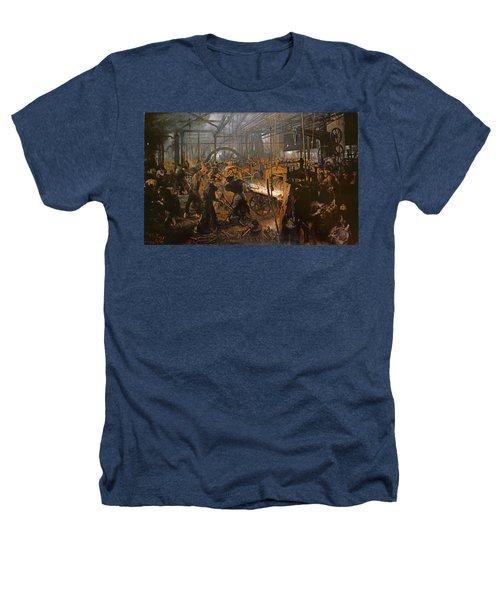 The Iron-rolling Mill Oil On Canvas, 1875 Heathers T-Shirt by Adolph Friedrich Erdmann von Menzel