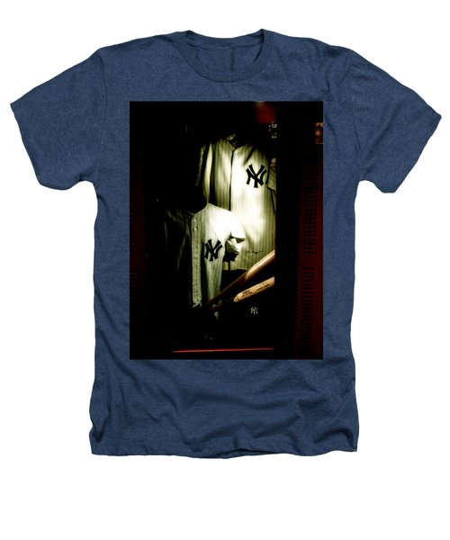 The Locker  Mickey Mantle's And Joe Dimaggio's Locker Heathers T-Shirt by Iconic Images Art Gallery David Pucciarelli