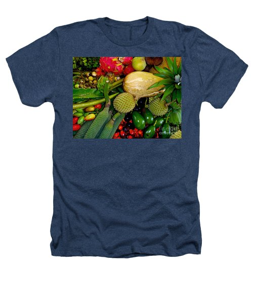 Tropical Fruits Heathers T-Shirt by Carey Chen