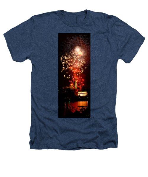 Usa, Washington Dc, Fireworks Heathers T-Shirt by Panoramic Images
