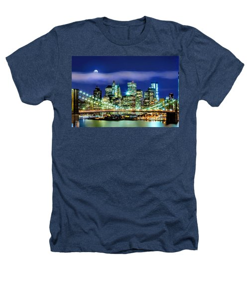 Watching Over New York Heathers T-Shirt by Az Jackson