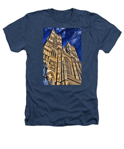 Westminster Abbey West Front Heathers T-Shirt by Stephen Stookey