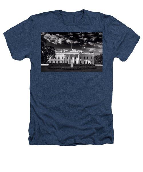 White House Sunrise B W Heathers T-Shirt by Steve Gadomski