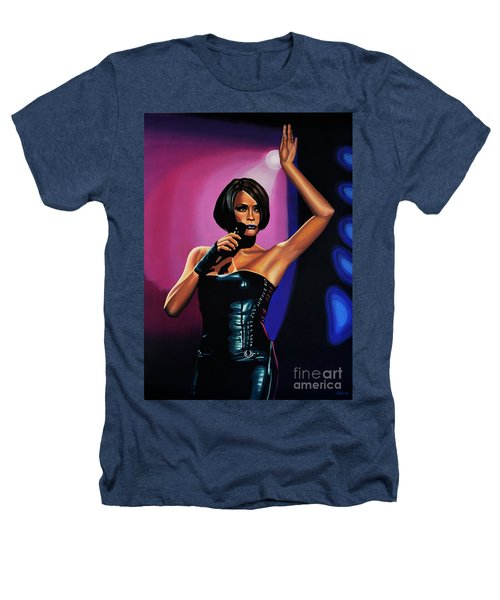 Whitney Houston On Stage Heathers T-Shirt by Paul Meijering