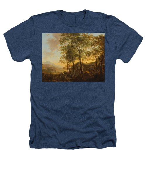 Wooded Hillside With A Vista Heathers T-Shirt by Jan Both