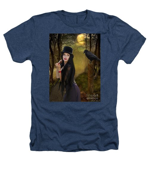 Words Of The Crow Heathers T-Shirt by Linda Lees