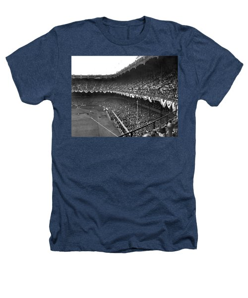 World Series In New York Heathers T-Shirt by Underwood Archives