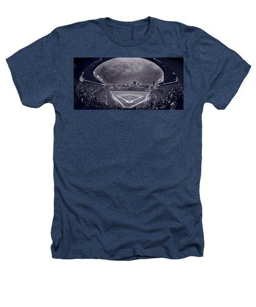 Wrigley Field Night Game Chicago Bw Heathers T-Shirt by Steve Gadomski