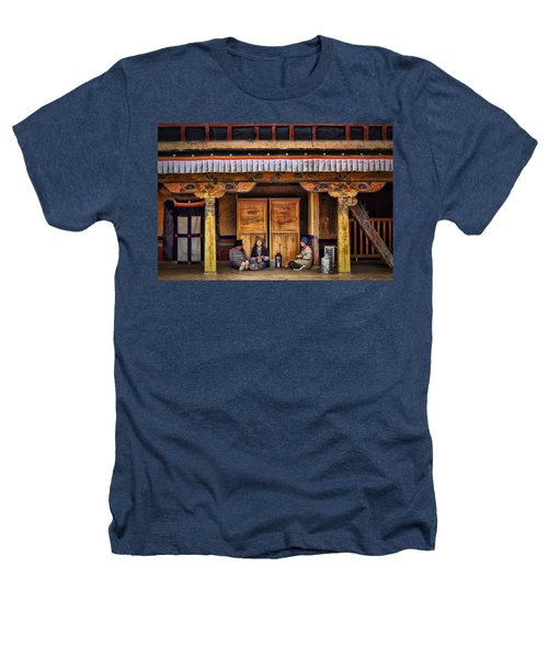 Yak Butter Tea Break At The Potala Palace Heathers T-Shirt by Joan Carroll