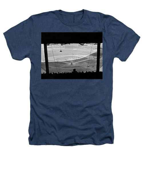 Yankee Stadium Grandstand View Heathers T-Shirt by Underwood Archives