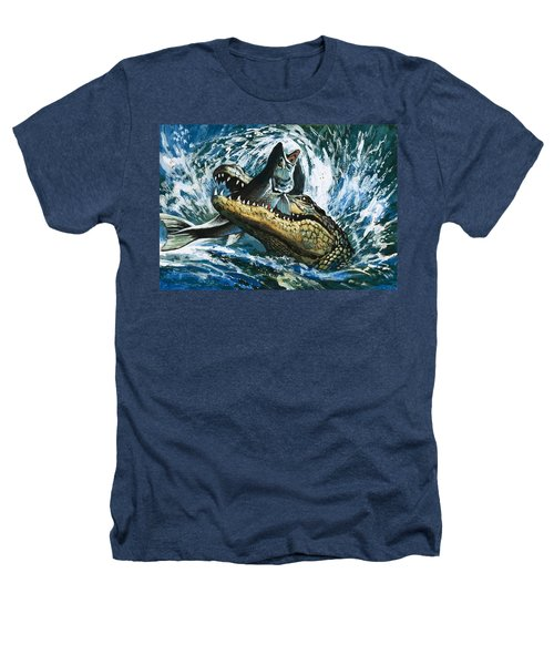 Alligator Eating Fish Heathers T-Shirt by English School
