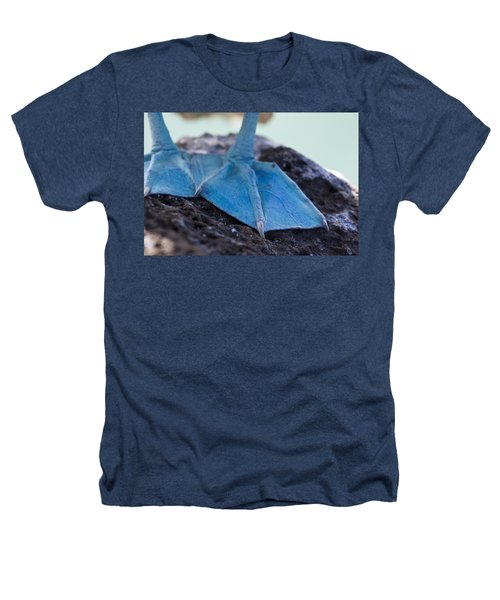 Blue Footed Booby Heathers T-Shirt by Dave Fleetham