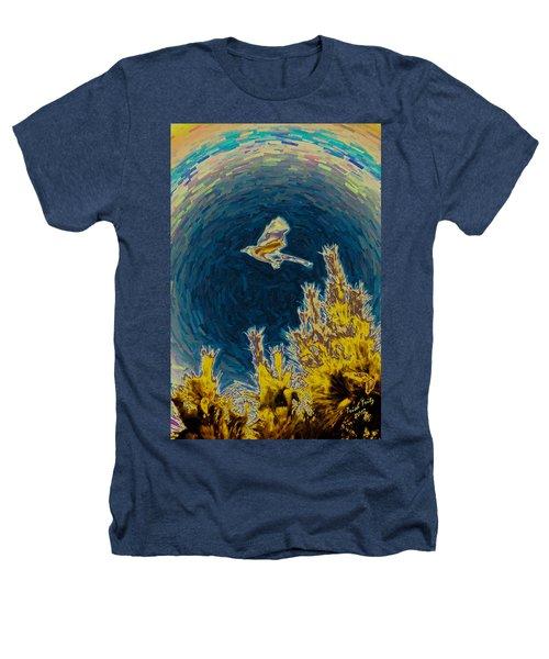 Bluejay Gone Wild Heathers T-Shirt by Trish Tritz