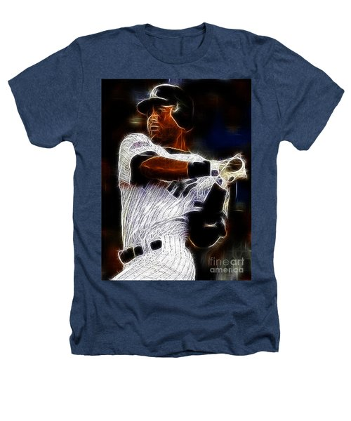 Derek Jeter New York Yankee Heathers T-Shirt by Paul Ward