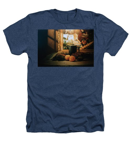 Still Life With Hopper Heathers T-Shirt by Patrick Anthony Pierson