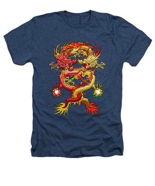 Brotherhood Of The Snake - The Red And The Yellow Dragons Heathers T-Shirt by Serge Averbukh