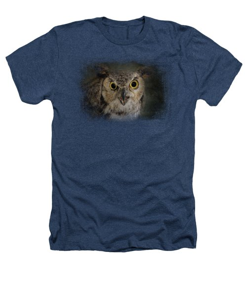 Great Horned Owl Heathers T-Shirt by Jai Johnson