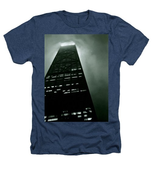 John Hancock Building - Chicago Illinois Heathers T-Shirt by Michelle Calkins