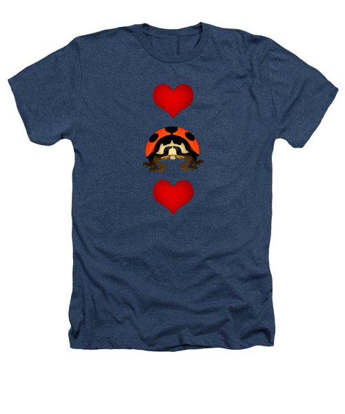 Love Bug Vertical Heathers T-Shirt by Sarah Greenwell