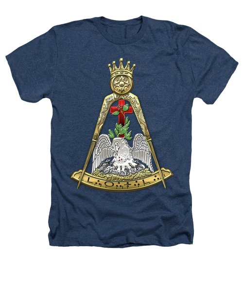 18th Degree Mason - Knight Rose Croix Masonic Jewel  Heathers T-Shirt by Serge Averbukh