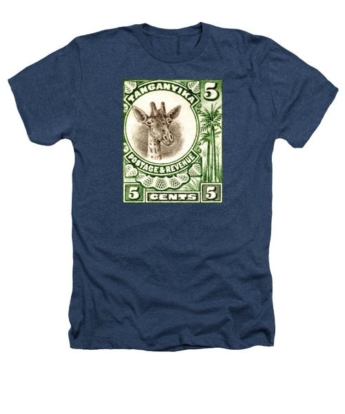 1922 East African Giraffe Stamp Heathers T-Shirt by Historic Image