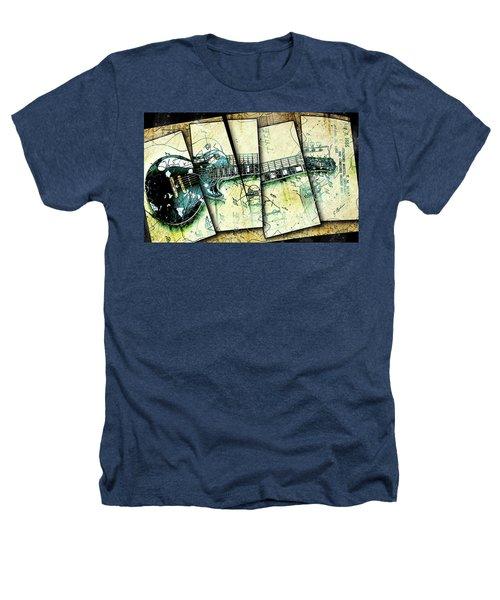 1955 Les Paul Custom Black Beauty V2 Heathers T-Shirt by Gary Bodnar