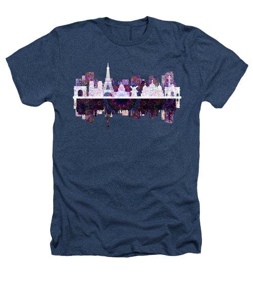 Paris France Fantasy Skyline Heathers T-Shirt by John Groves