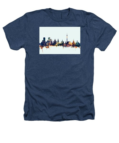 Moscow Russia Skyline Heathers T-Shirt by Michael Tompsett