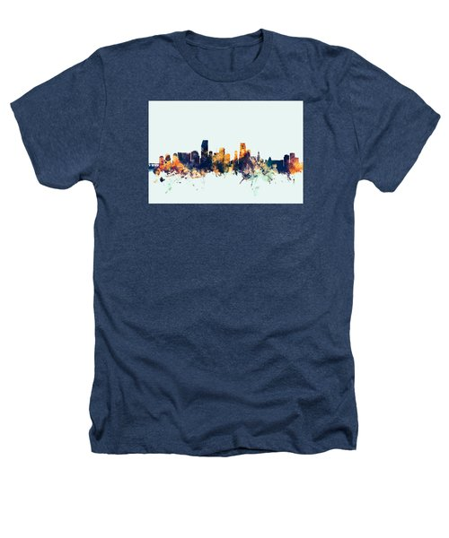 Miami Florida Skyline Heathers T-Shirt by Michael Tompsett