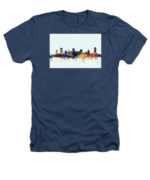 Nashville Tennessee Skyline Heathers T-Shirt by Michael Tompsett