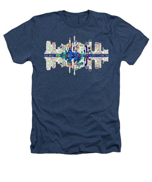 Tokyo Skyline Heathers T-Shirt by John Groves