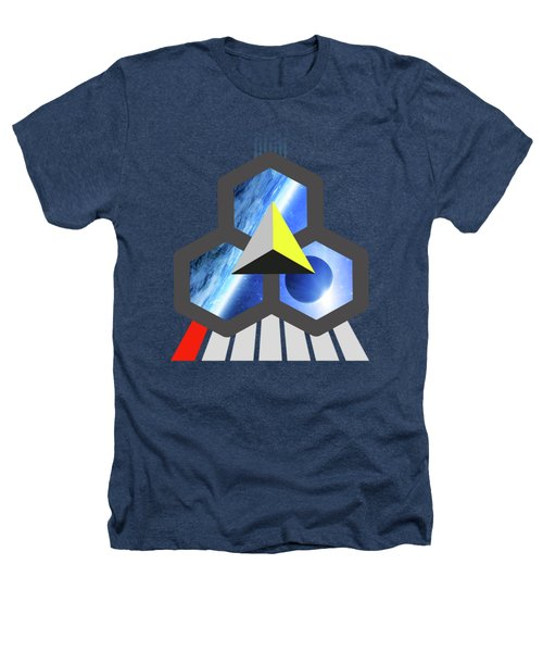 Abstract Space 1 Heathers T-Shirt by Russell K