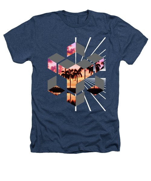 Abstract Space 3 Heathers T-Shirt by Russell K