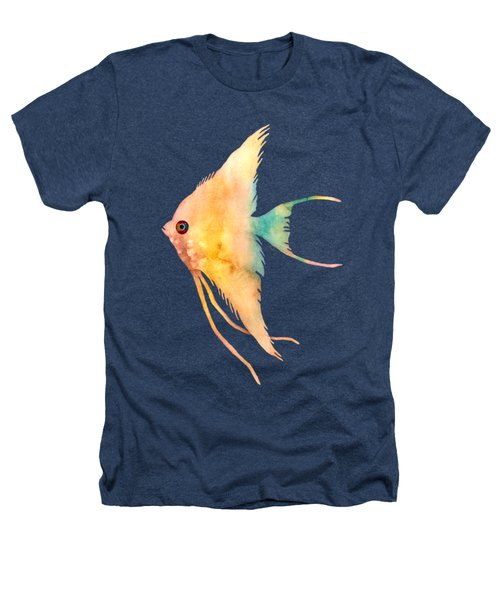 Angelfish II - Solid Background Heathers T-Shirt by Hailey E Herrera
