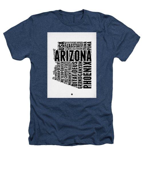 Arizona Word Cloud Map 2 Heathers T-Shirt by Naxart Studio