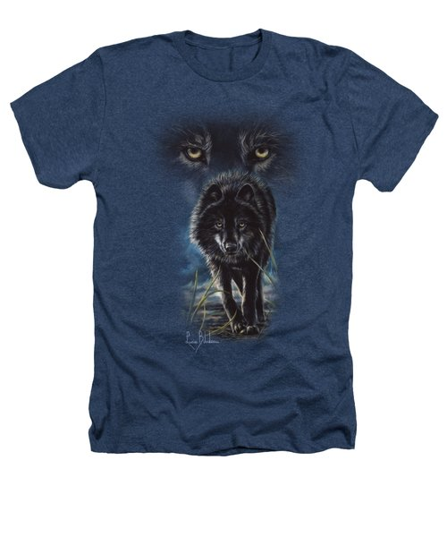 Black Wolf Hunting Heathers T-Shirt by Lucie Bilodeau