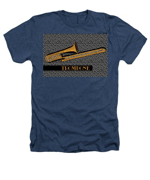 Trombone Tunes Heathers T-Shirt by Cecely Bloom