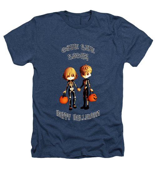 Skeleton Twinz Halloween Heathers T-Shirt by Methune Hively