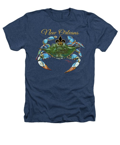 Louisiana Blue On Red Heathers T-Shirt by Dianne Parks