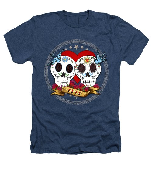 Love Skulls II Heathers T-Shirt by Tammy Wetzel