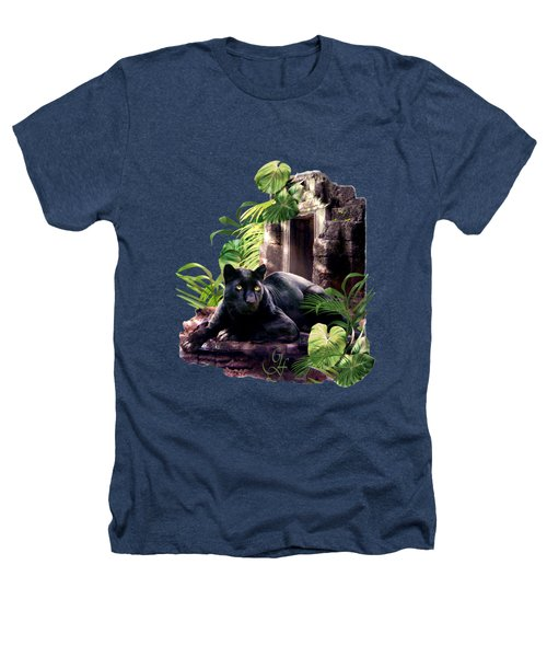 Black Panther Custodian Of Ancient Temple Ruins  Heathers T-Shirt by Regina Femrite