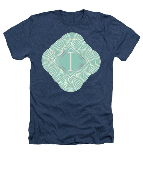 1920s Blue Deco Jazz Swing Monogram ...letter I Heathers T-Shirt by Cecely Bloom