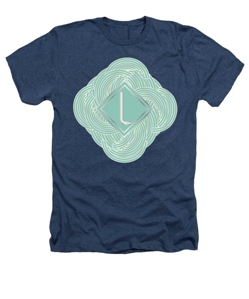1920s Blue Deco Jazz Swing Monogram ...letter L Heathers T-Shirt by Cecely Bloom