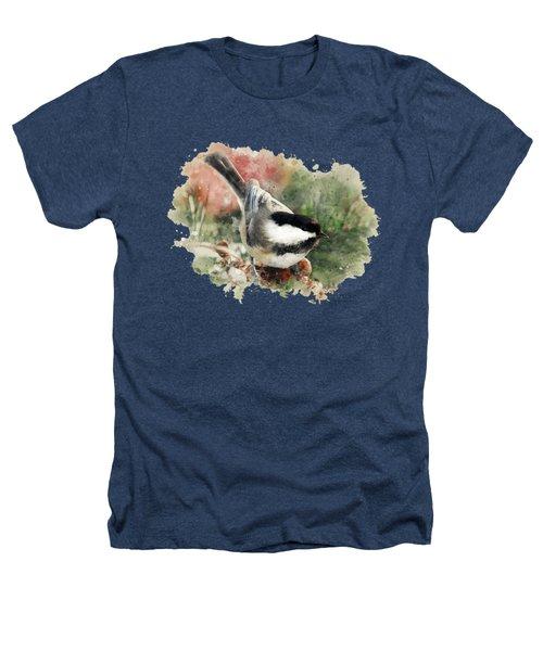 Beautiful Chickadee - Watercolor Art Heathers T-Shirt by Christina Rollo